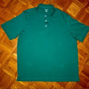 NWOT Lands End Traditional Fit Tall Polo Green